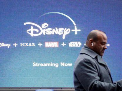Un anuncio de Disney+ en Nueva York.