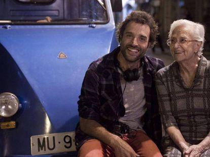 Daniel Guzmán y Antonia Guzmán, en el rodaje de 'A cambio de nada'. En vídeo, tráiler de la película.
