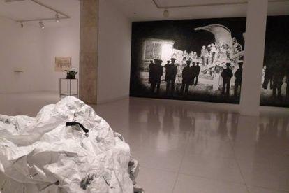 Vista de la exposición 'Kill Lies All' de Javier Arce.