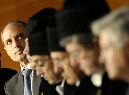 El presidente de la Generalitat valenciana, Francisco Camps, durante la apertura del curso de la Universidad Politécnica de Valencia.