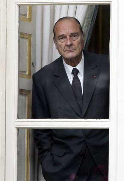 El presidente francés, Jacques Chirac, ayer en El Elíseo.