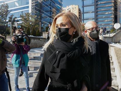 Cristina Cifuentes, a su salida del juicio del 'caso máster', el pasado lunes en Madrid.
