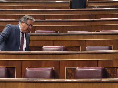 El exministro del Interior Juan Ignacio Zoido, a su llegada a Congreso de los Diputados el pasado martes.