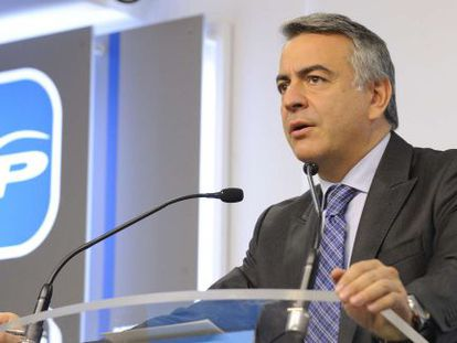 Javier de Andrés, este lunes en la sede del PP en Vitoria