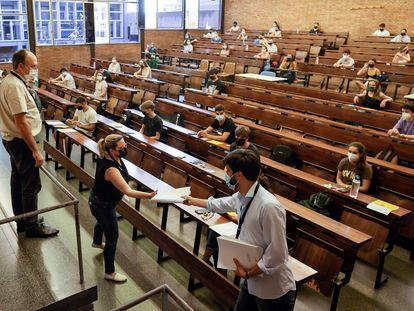 Exámenes de Selectividad en Barcelona, el pasado 8 de junio.