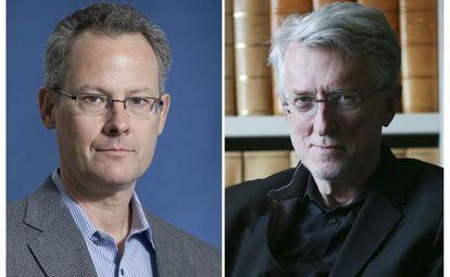 Los ensayistas norteamericanos Nicholas Carr (izquierda) y Jeff Jarvis (derecha).