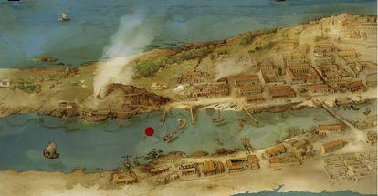 Investigadores de la Universidad de Cádiz han descubierto la existencia de un puerto en un canal que atravesó la ciudad durante más de 1.500 años