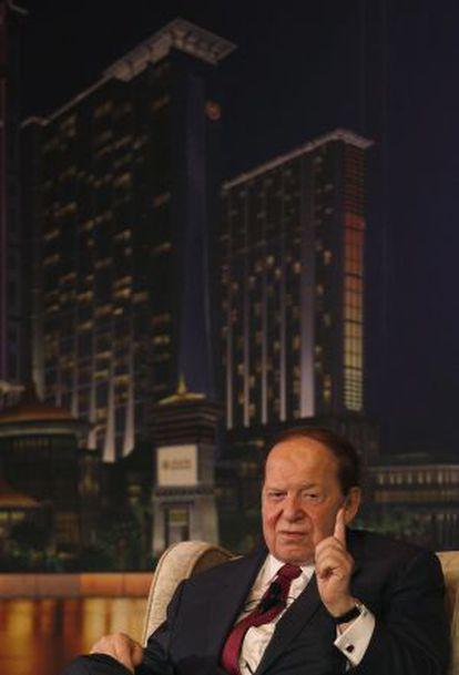 Sheldon Adelson durante una conferencia de prensa en Macao (China).