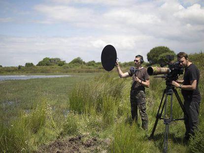Rodaje de Orca Productions en Doñana.