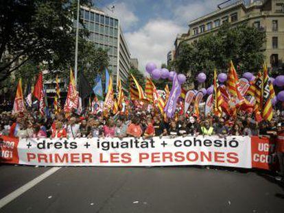 Los líderes sindicales piden derogar la reforma laboral en las manifestaciones contra la brecha salarial y la precariedad laboral de este 1 de mayo