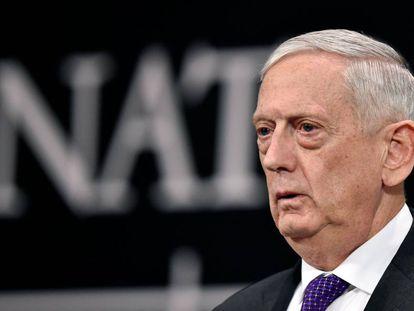 El jefe del Pentágono, James Mattis, en un acto del pasado 15 de febrero.