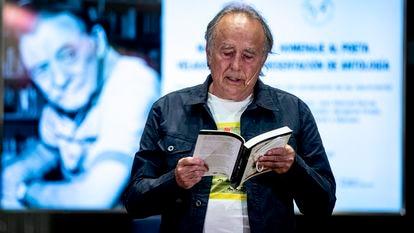 Joan Manuel Serrat, en el tributo a Mario Benedetti.