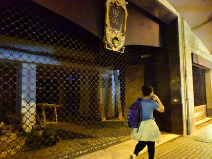 Una discoteca cerrada en Barcelona.