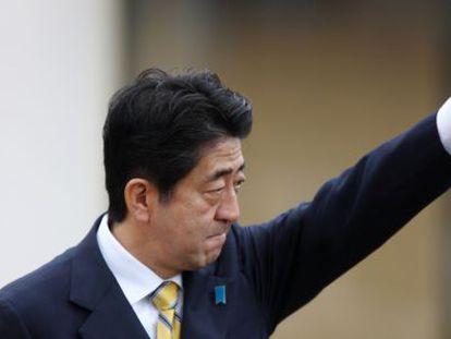 El ex primer ministro y actual candidato del Partido Liberal Democrático,  Shinzo Abe.