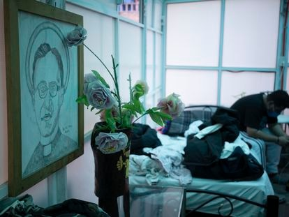 Un nicaragüense en Casa Tochán, un albergue que acoge a solicitantes de refugio en Ciudad de México.