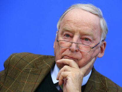 Alexander Gauland, en una conferencia de prensa el 28 de octubre en Berlín.