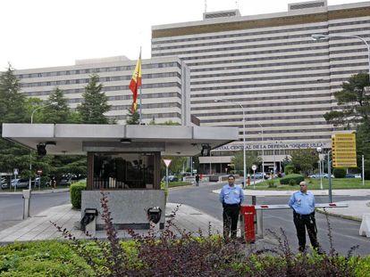 Entrada del Hospital central de la Defensa Gómez Ulla, en Madrid.