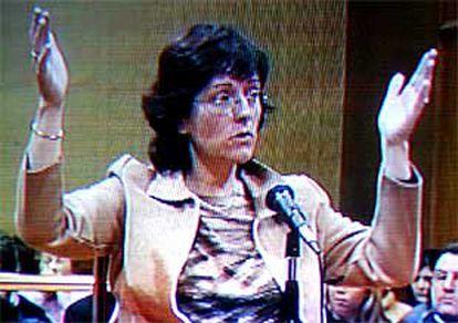 Maria Àngels Feliu, durante su declaración en el juicio, al referir las medidas del agujero en el que se encontraba.