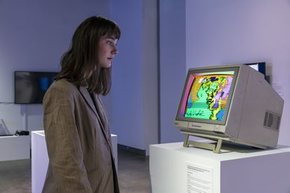 'Sin nombre (Autorretrato)' , uno de los activos digitales de Warhol creado en 1985, se ha subastado en Christie's por el equivalente a 461.000 euros. En la imagen, durante una muestra de 2019.
