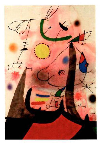La obra de Miró que realizó para su amigo Josep Trueta en 1970 y que ha sido adquirida en dación en pago por 490.000 euros.