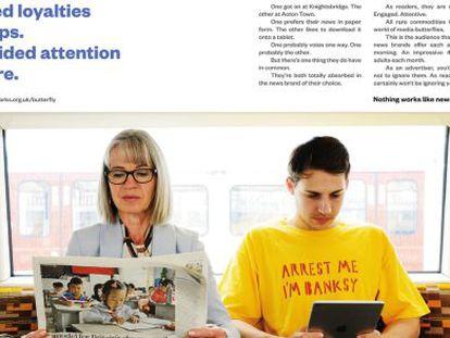 Imagen de uno de los anuncios de la campaña.