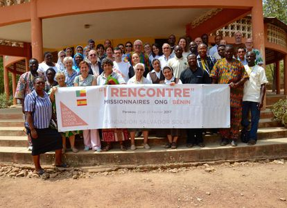 Participantes en el I Foro misioneros-ONG de Benín.