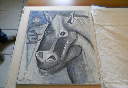'Tete de Cheval' (1962), una de las dos obras de Picasso sustraídas en 2008 en Suiza y recuperadas hoy en Belgrado.