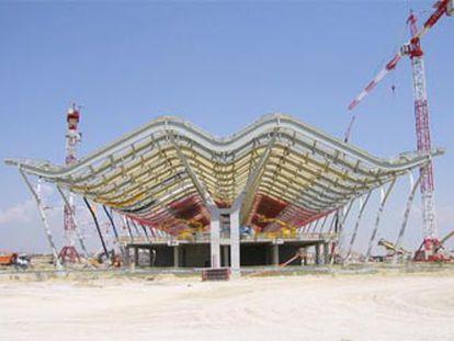 Obras en octubre pasado de la nueva terminal de Barajas, de Rogers y Lamela.