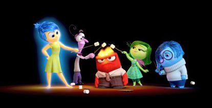 "Fotograma de la producción de Pixar ""Del revés"" (""Inside Out"")."