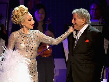 Lady Gaga y Tony Bennett, en Las Vegas en enero de 2019.