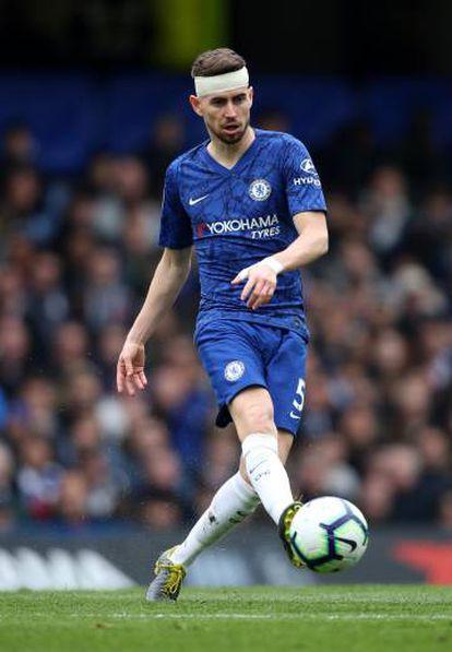 Jorginho, durante un partido con el Chelsea.