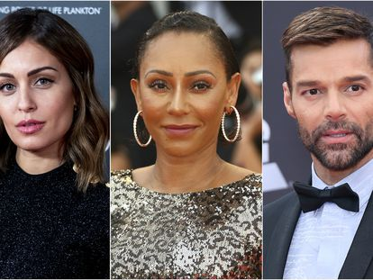 Hiba Abouk, Mel B y Ricky Martin.