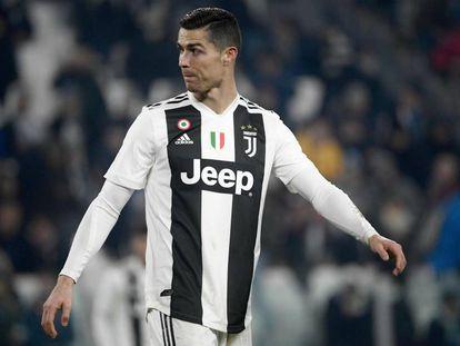 Cristiano Ronaldo, este sábado contra la Roma.