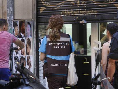 Emergencias sociales en un desalojo en Barcelona.