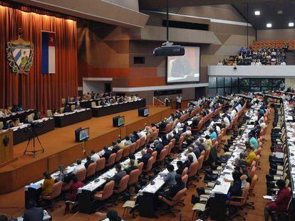 Sesión de la Asamblea Nacional, este viernes en La Habana.