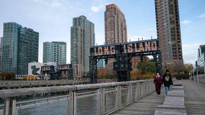 Vista del barrio de Long Island City en Queens, Nueva York