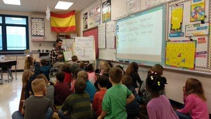 José Manuel García es profesor de español en Bowman Primary School, en Lebanon, Ohio (EE UU).