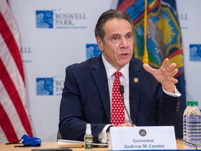 Andrew Cuomo, el 27 de enero en una conferencia de prensa sobre el coronavirus.