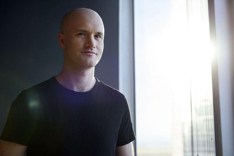 Brian Armstrong, co-fondatore e CEO di Coinbase nel dicembre 2017.