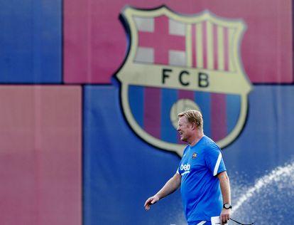 Ronald Koeman, este lunes en la Ciudad Deportiva del Barcelona.
