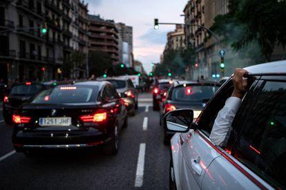 Atasco en Barcelona