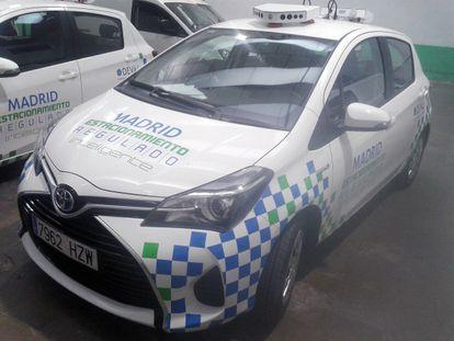 Uno de los nuevos vehículos de control automático de las infracciones del estacionamiento regulado.