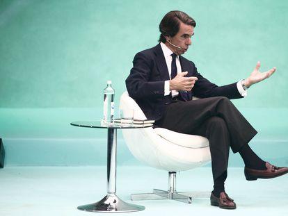 El expresidente del Gobierno español José María Aznar, en un acto del DigitalES Summit celebrado en Madrid en julio de 2019.