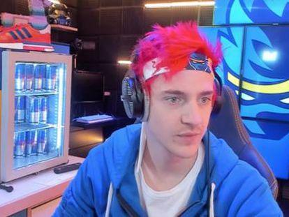 El gamer Ninja, durante un streaming a través de Mixer.