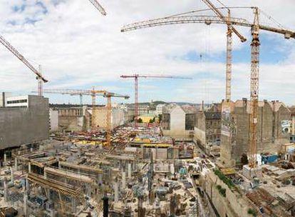 El magnate inmobiliario Peter Futo está construyendo la nueva sede de su empresa, Futureal, en el centro de Budapest.