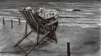 Dibujo de la última película de W. Kentridge que se puede ver en su exposición del CCCB.