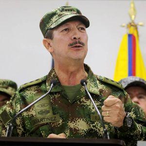 El ex jefe del Ejército colombiano, Nicacio Martínez Espinel, el pasado 20 de mayo de 2019 durante una comparecencia.