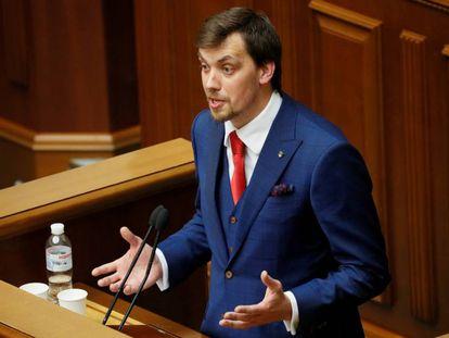 Oleksiy Honcharuk, en el Parlamento ucranio, en agosto de 2019.