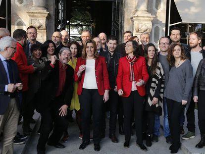Susana Díaz, junto a profesionales del sector audiovisual andaluz.
