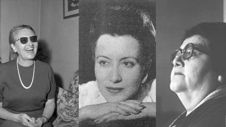 Marta Brunet, Alaíde Foppa e Ileana Espinel en imágenes de archivo.
